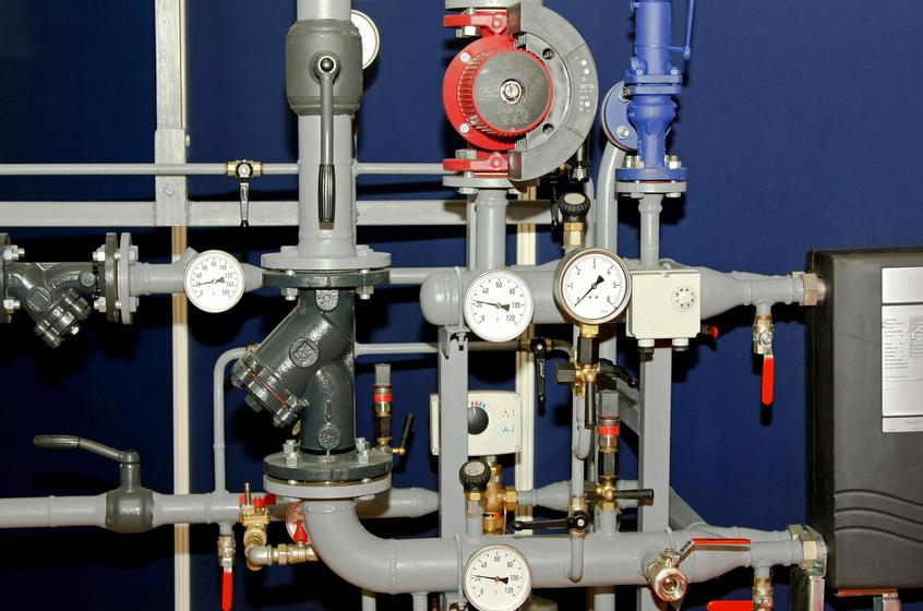 Исполнительная схема системы отопления т1 т2