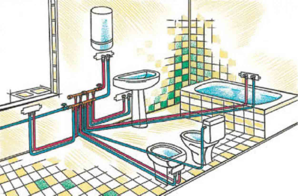 Водоснабжение ванной комнаты в частном доме своими руками
