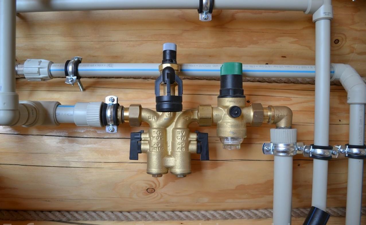 Разводка воды сшитым полиэтиленом